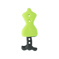 Bouton mannequin couture vert anis