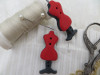 Bouton mannequin couture rouge